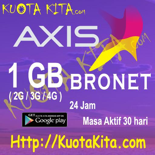 Kuota Internet Axis Bronet 24 Jam - 1GB Bronet 24jam , 30 Hari