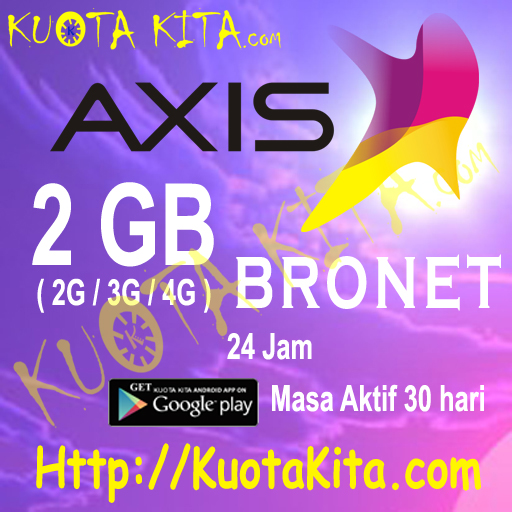 Kuota Internet Axis Bronet 24 Jam - 2GB Bronet 24jam , 30 Hari