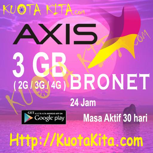 Kuota Internet Axis Bronet 24 Jam - 3GB Bronet 24jam , 30 Hari