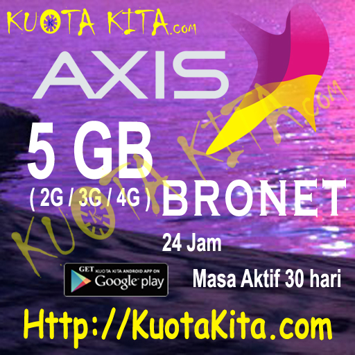 Kuota Internet Axis Bronet 24 Jam - 5GB Bronet 24jam , 30 Hari