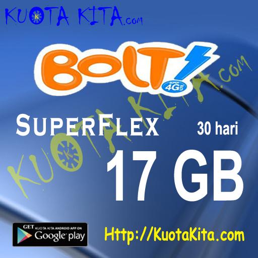 Kuota Internet BOLT - Bolt Quota 17GB , 30 Hari